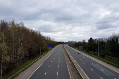 Deserted M60 motorway due to coronavirus.