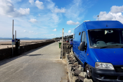 Van parked on Barmouth Promenade