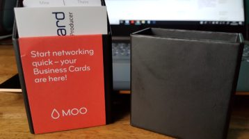 Business cards ordered from Moo.com